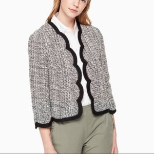 Kate Spade ♠️ scallop tweed jacket nwot